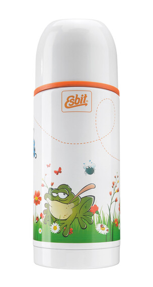 Esbit thermosfles Kids Drinkfles Kinderen kikker, 350 ml wit